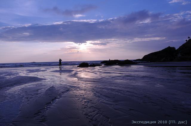 голубая даль, священный берег Индийского океана