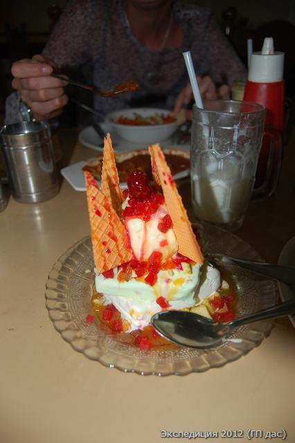 маленький десерт мороженного