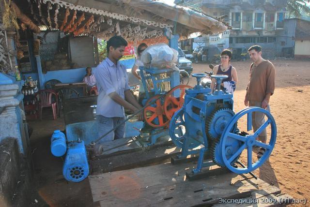 Машина для выжимки свежего сока сахарного тростника