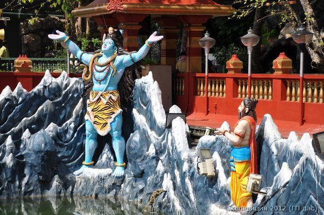 Шива принимает небесную реку Гангу на голову